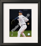 Greg Maddux 2008 Pitching Action. Maddux's 350th career victory as the Padres won 3-2 Framed Photographic Print