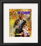 Kobe Bryant 2008 MVP Portrait Plus; LA Lakers Framed Photographic Print