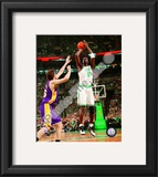 Kevin Garnett, Game 2 of the 2008 NBA Finals; Action 4 Framed Photographic Print