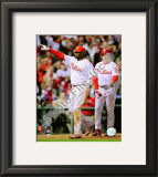 Ryan Howard &amp; Chase Utley Game 4 of the 2008 MLB World Series Framed Photographic Print