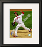 Cole Hamels Game 5 of the 2008 World Series Framed Photographic Print