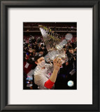 Chase Utley With World Series Trophy Framed Photographic Print