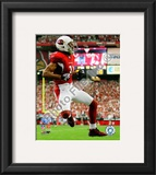 Larry Fitzgerald 2008 NFC Championship Framed Photographic Print