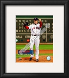 Jon Lester's 2008 No hitter Celebration; Vertical with Overlay Framed Photographic Print