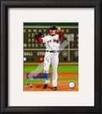 Jon Lester's 2008 No hitter Celebration; Vertical with Overlay Framed Photographic Print