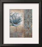 Fleur Bleue II Poster by Vivian Flasch