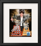 Evgeni Malkin with the Art Ross Trophy and Conn Smythe Trophy Framed Photographic Print