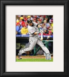 Nick Swisher Game three of the 2009 MLB World Series Framed Photographic Print