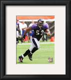 Ray Lewis 2010 Action Framed Photographic Print