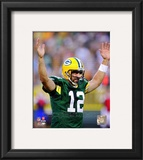 Aaron Rodgers 2010 Action Framed Photographic Print