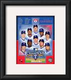 Texas Rangers 2010 American League Champions Composite Framed Photographic Print