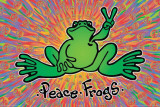 Peace Frogs Posters
