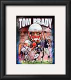 Tom Brady 2010 Portrait Plus Framed Photographic Print