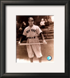 Phil Rizzuto - Holding bat across legs, posed sepia Framed Photographic Print