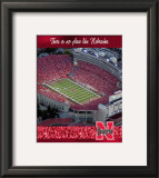 University of Nebraska-Stadium Shot Framed Photographic Print