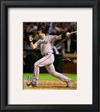 Buster Posey Game Four of the 2010 World Series Home Run Framed Photographic Print