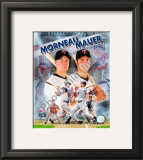Joe Mauer &amp; Justin Morneau Framed Photographic Print