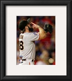 Brian Wilson Celebrates Winning Game Five of the 2010 World Series Framed Photographic Print