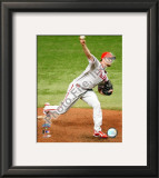 Brad Lidge Game one of the 2008 MLB World Series Framed Photographic Print