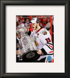 Jonathan Toews with the 2009-10 Stanley Cup Framed Photographic Print