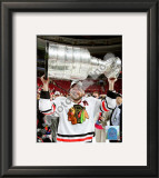 Patrick Sharp with the 2009-10 Stanley Cup Framed Photographic Print