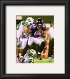 Derrick Mason 2010 Action Framed Photographic Print