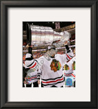 Dustin Byfuglien with the 2009-10 Stanley Cup Framed Photographic Print