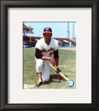Frank Robinson - Orioles - Kneeling with bat Framed Photographic Print