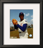 Ferguson Jenkins - Ball in glove, posed Framed Photographic Print