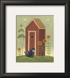 Outhouse with Cat Posters by Warren Kimble