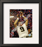 Drew Brees with the Vince Lombardi Trophy Super Bowl XLIV Framed Photographic Print