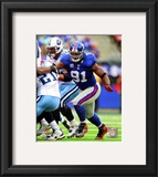 Justin Tuck 2010 Action Framed Photographic Print