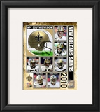 2010 New Orlenas Saints Team Composite Framed Photographic Print