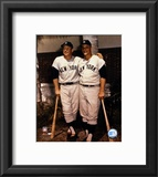 Mickey Mantle and Roger Maris- Palm Trees Framed Photographic Print