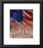 Flag/Patriotic Collage Framed Photographic Print