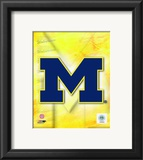 2009 University of Michigan Team Logo Framed Photographic Print