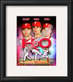 "2010 Philadelphia Phillies ""H20"" Portrait Plus Framed Photographic Print"