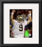 Drew Brees Super Bowl XLIV Framed Photographic Print