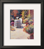 Garden Lunch and Basket Print by Edward Noott