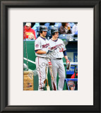 Joe Mauer &amp; Justin Morneau 2010 Framed Photographic Print