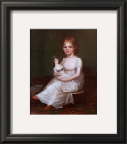 Girl Holding a Doll Posters by James Peale