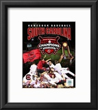 University of South Carolina 2010 NCAA College Baseball World Series Champions Composite Framed Photographic Print