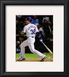 Josh Hamilton Game Three of the 2010 World Series Home Run Framed Photographic Print