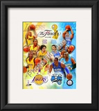 '09 NBA Finals Match Up - Lakers / Magic Framed Photographic Print