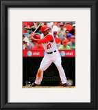 Howie Kendrick 2010 Action Framed Photographic Print