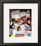 Marian Hossa with the 2009-10 Stanley Cup Framed Photographic Print