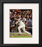 Buster Posey Game Two of the 2010 World Series Action Framed Photographic Print