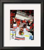 Duncan Keith with the 2010 Stanley Cup Framed Photographic Print
