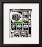 2010 Oakland Raiders Team Composite Framed Photographic Print