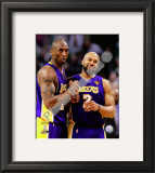 Kobe Bryant & Derek Fisher Game Three of the 2010 NBA Finals Framed Photographic Print